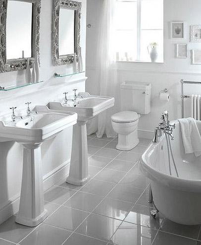 baño blanco luce amplio