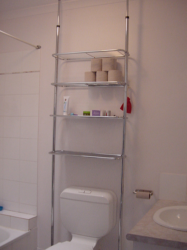 Muebles Para Baño Wc:Bathroom Storage Behind Toilet