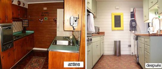 Pintar azulejos cocina antes y despues gallery of - Pintar muebles de cocina antes y despues ...