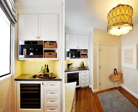 nuevos electrodomésticos y suelo de madera