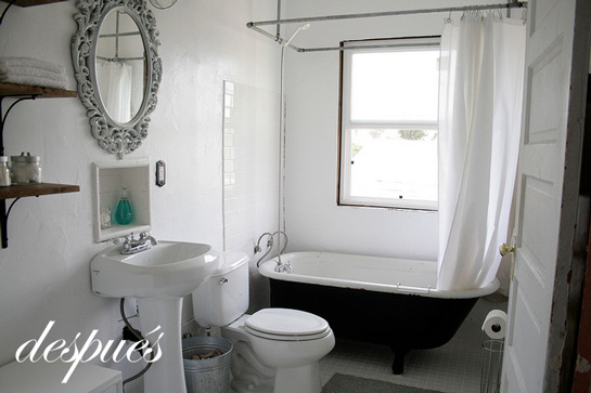 baño pequeño reformado
