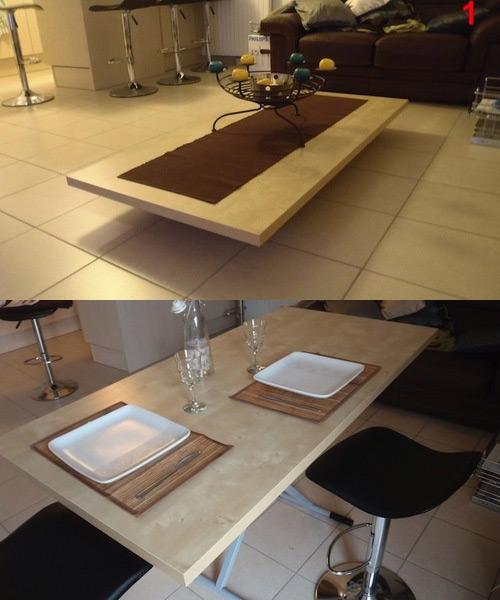 10 maneras de ahorrar espacio en el hogar reformas blog - Consolas que se convierten en mesas de comedor ...