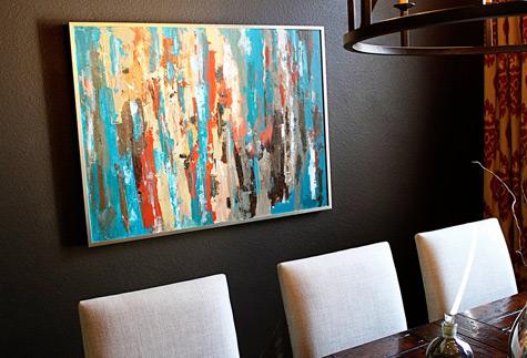 Como pintar cuadro abstracto - Imagui