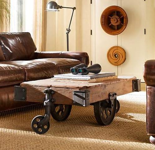 de una vagoneta de carbonería se consigue una poderosa mesa de centro
