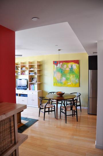 salón comedor moderno colorido