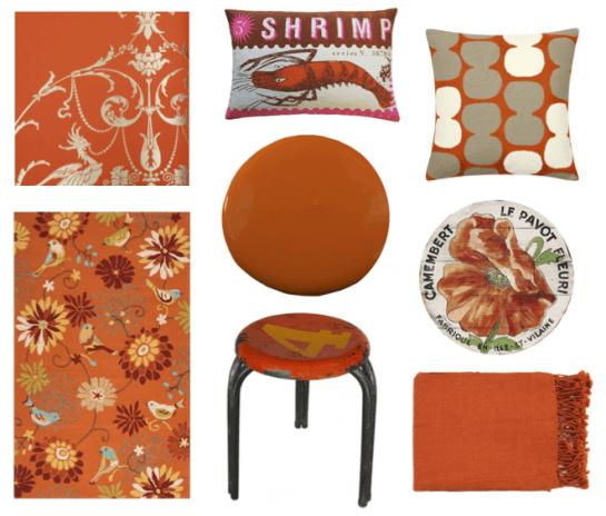 El naranja en la decoraci n del hogar reformas blog for Decoracion hogar naranja
